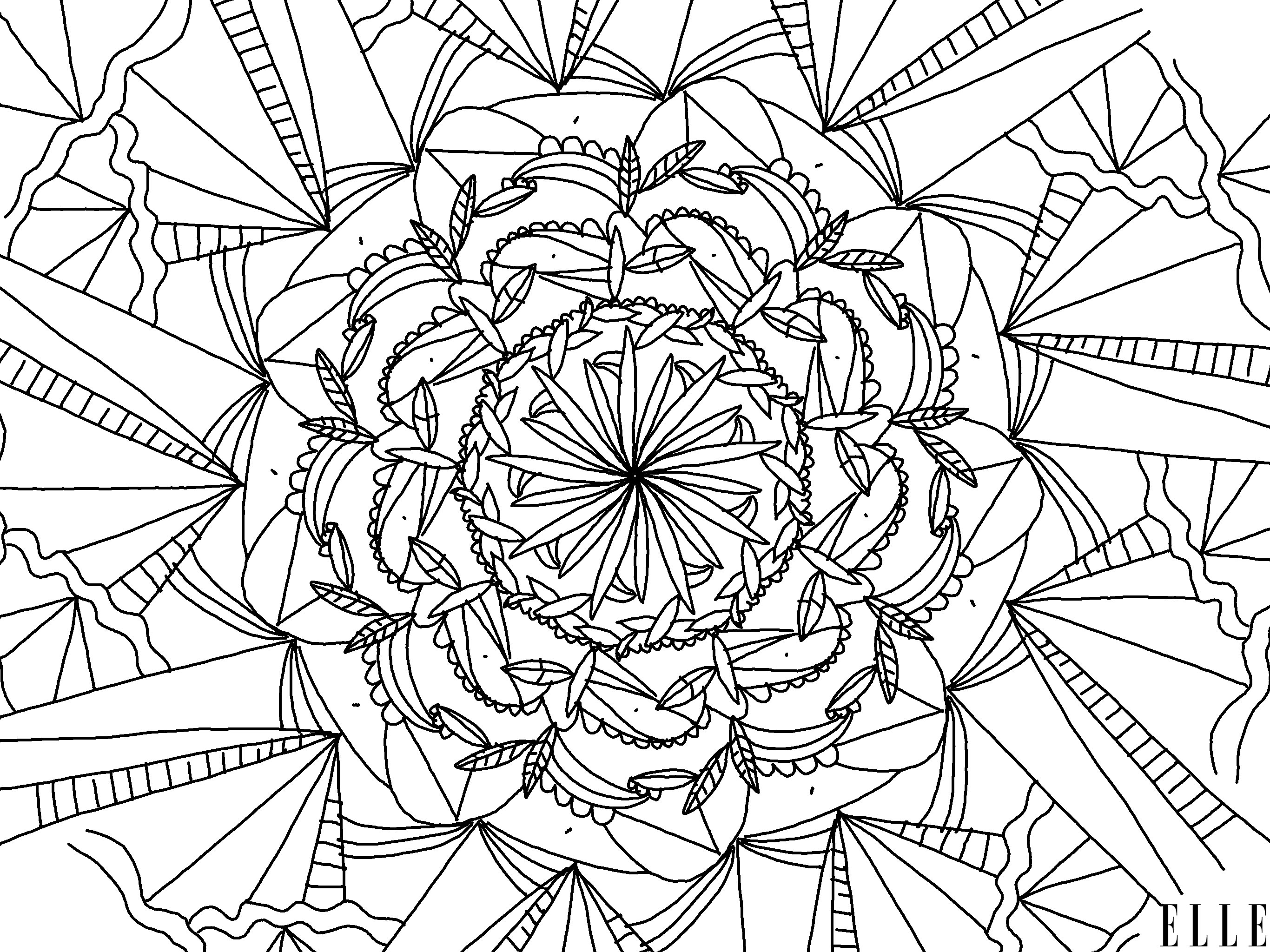 Mandala A Imprimer Telechargez 4 Coloriages Mandala A Imprimer Elle