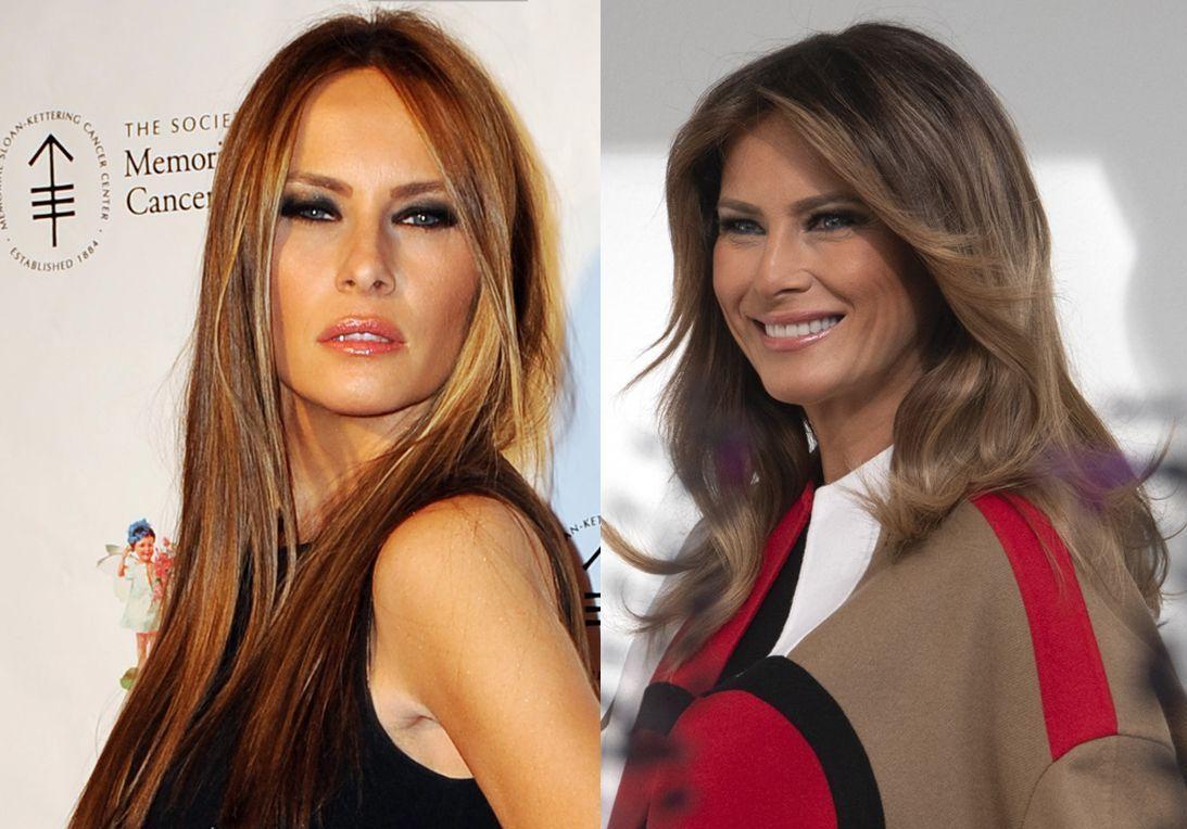 L'évolution beauté de Melania Trump - Elle