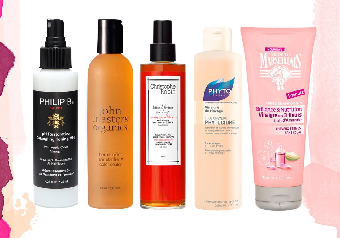 12 soins au vinaigre pour des cheveux lumineux