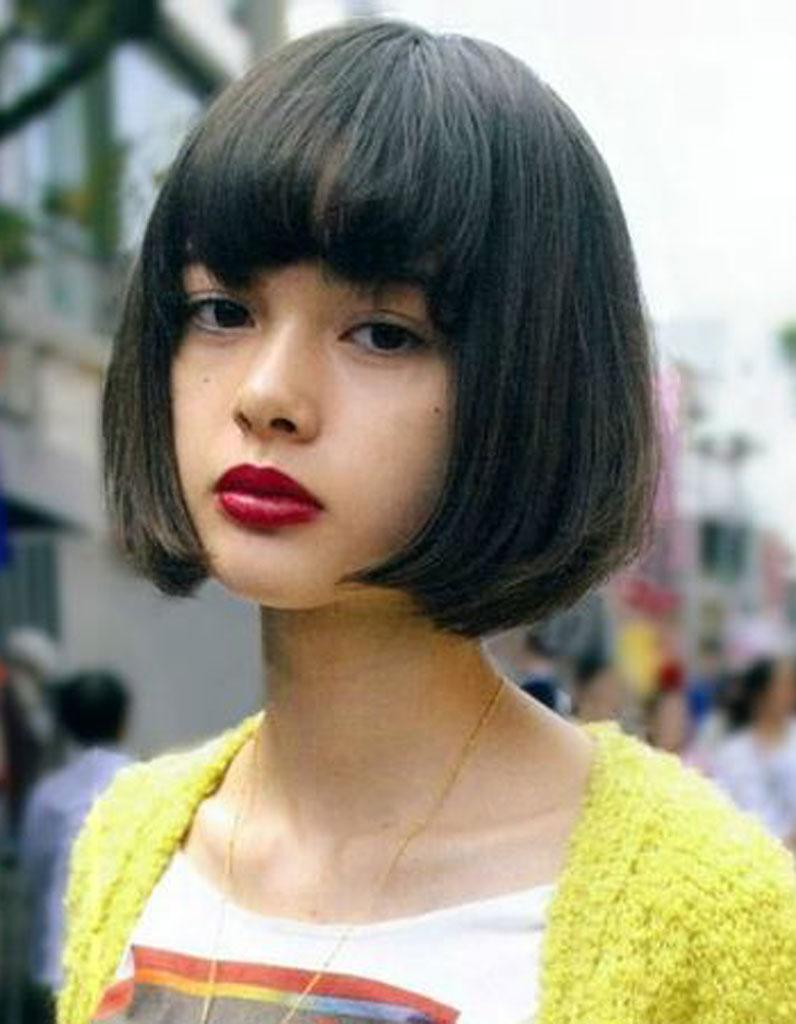 Modele coupe de cheveux court avec frange
