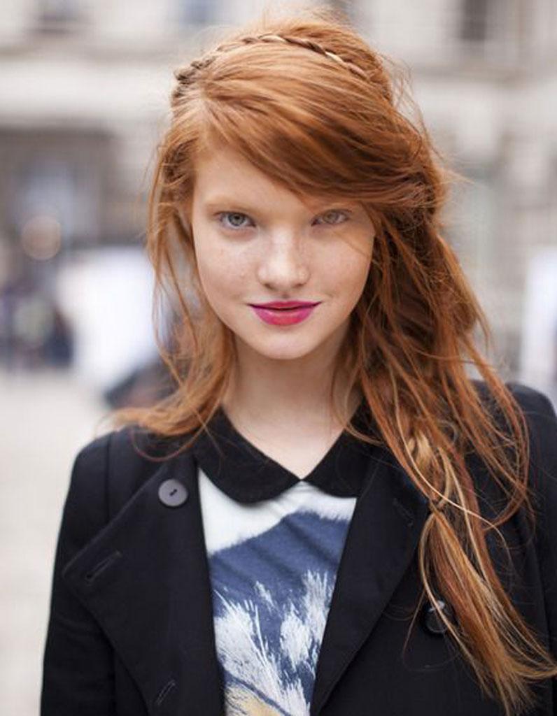Coupe de cheveux degrade visage rond