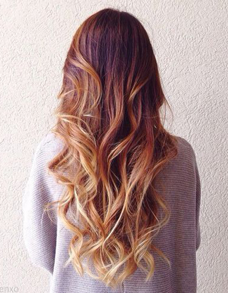 hair color styles tumblr balayage cuivr 233 et pointes blond miel balayage cuivr 233 8111 | Balayage cuivre et pointes blond miel