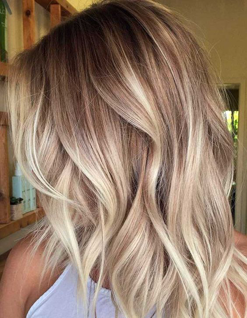 Couleur cheveux blond degrade