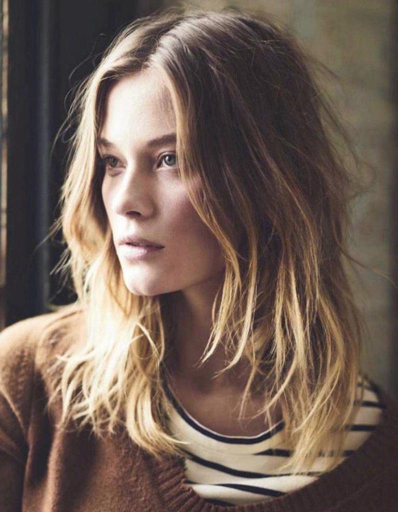Coupe de cheveux ondulés blonds automne,hiver 2016 , Cheveux ondulés  de  jolies coiffures pour un volume maîtrisé , Elle