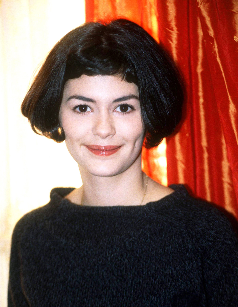 carr court et mini frange audrey tautou ses coiffures. Black Bedroom Furniture Sets. Home Design Ideas