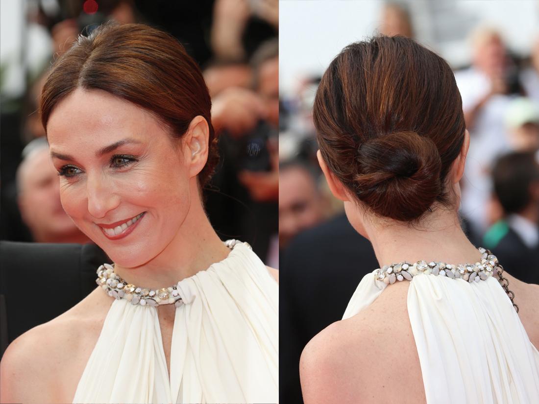 Le chignon chic d'Elsa Zylberstein - Notre palmarès des plus belles coiffures du Festival de ...