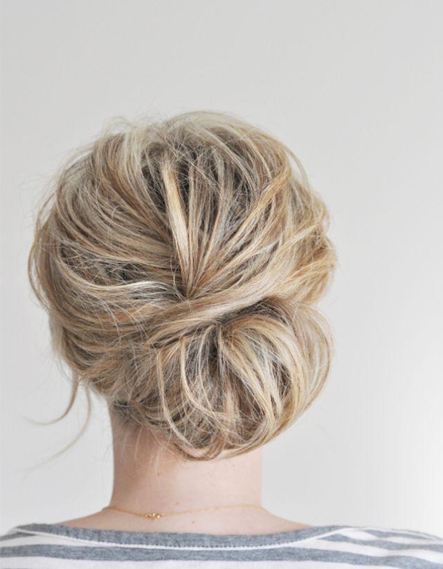 Chignon Coiffe Decoiffe Blond 15 Jolis Chignons Coiffes Decoiffes Reperes Sur Pinterest Elle