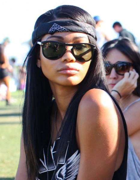 Le bandana gangster de Chanel Iman au festival de Coachella 2013 ...