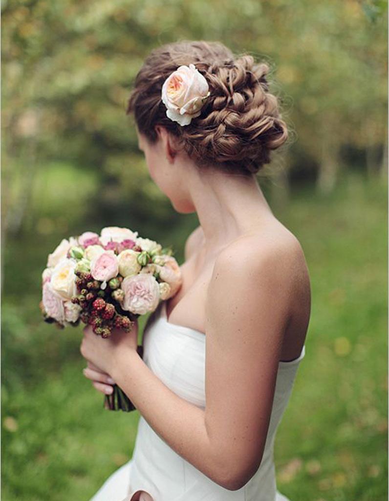 Coiffure mariée pour visage long , Les plus jolies coiffures de mariée pour  s\u0027inspirer , Elle