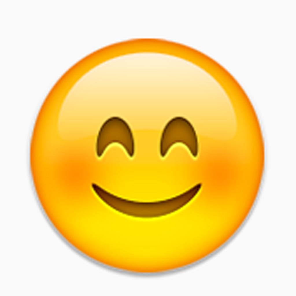 Le smiley aux joues roses - Beauté : la vraie signification des émojis ! -  Elle