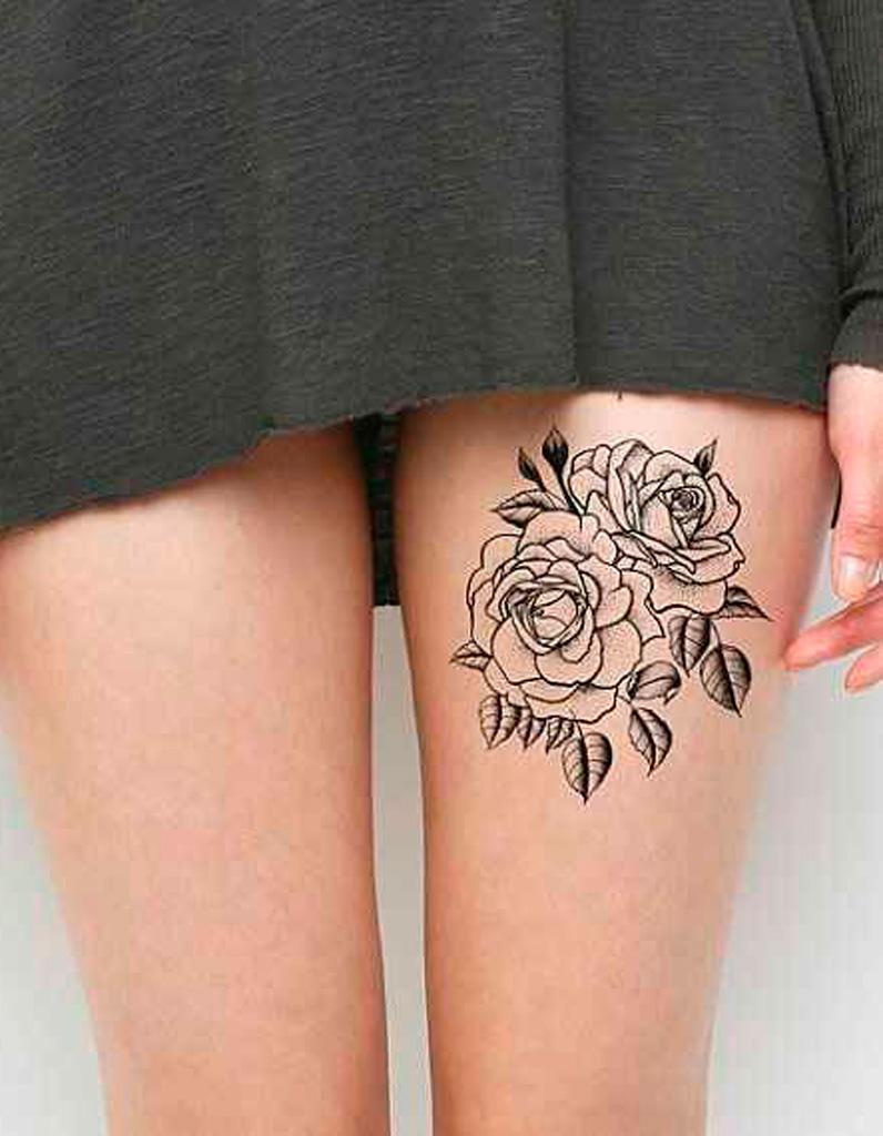 tatouage fleur sur la cuisse - 20 tatouages fleuris qui font envie