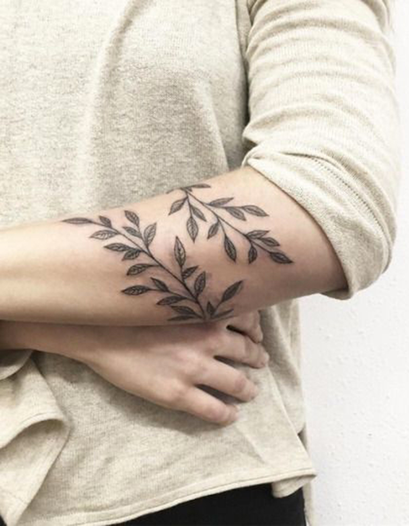 plante grimpante tatouage