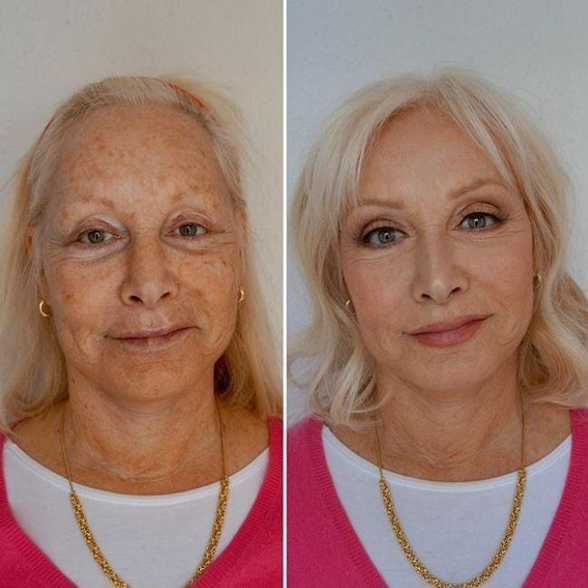 8dc83a0f678 Avant   après   cette make-up artist maquille sa mère et elle parait dix