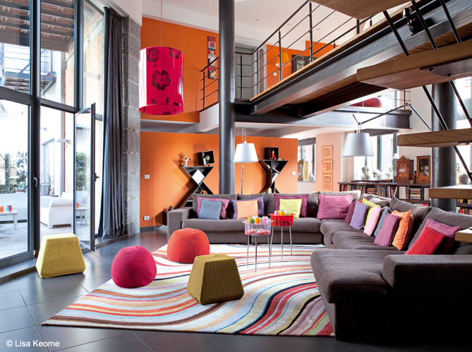 Un loft en couleur c est possible elle décoration