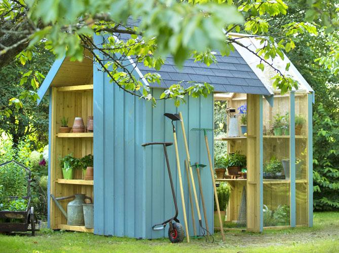 24 abris pour votre jardin abris de jardin elle d coration - Decoration pour jardin exterieur ...