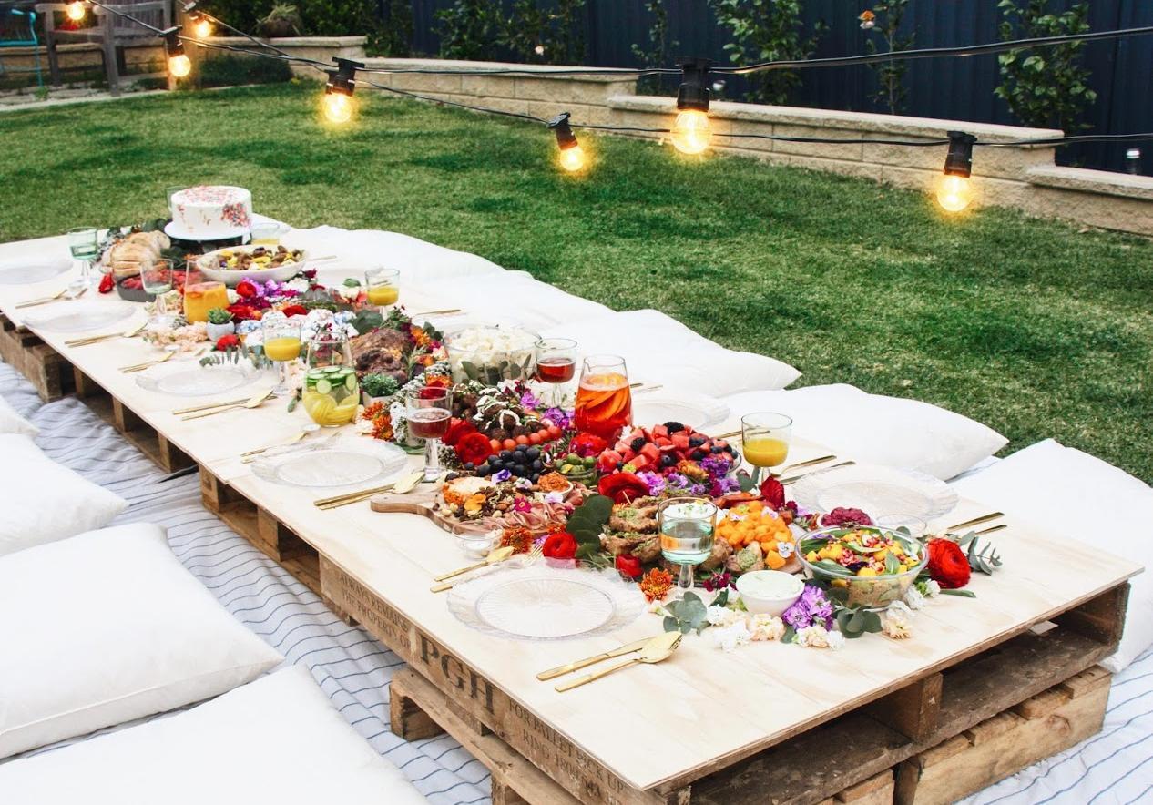 Idee Deco Palette Jardin 30 idées déco pour une garden party canon - elle décoration