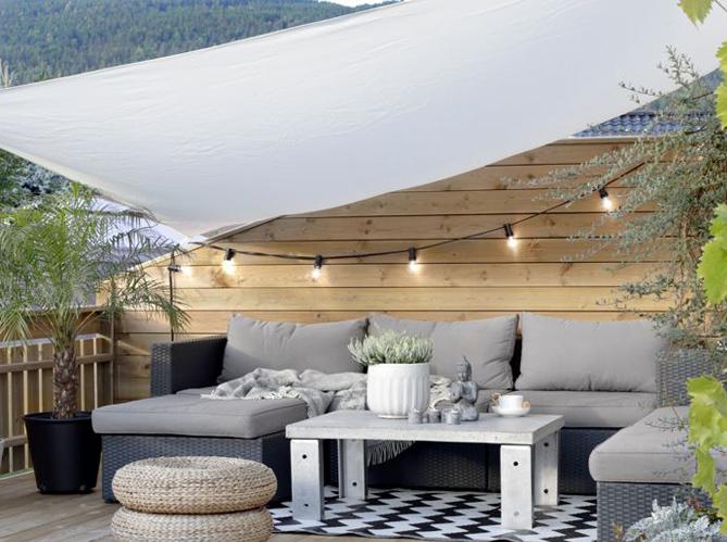 5 Facons Originales D Eclairer Sa Terrasse Elle Decoration