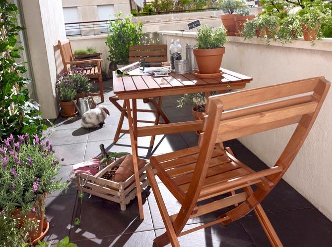 Mobilier de jardin de ville et terrasse - Elle Décoration