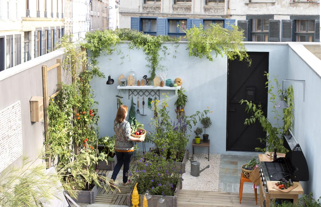 Petit jardin nos astuces et conseils pour un petit jardin malin elle d coration - Decoration pour jardin exterieur ...