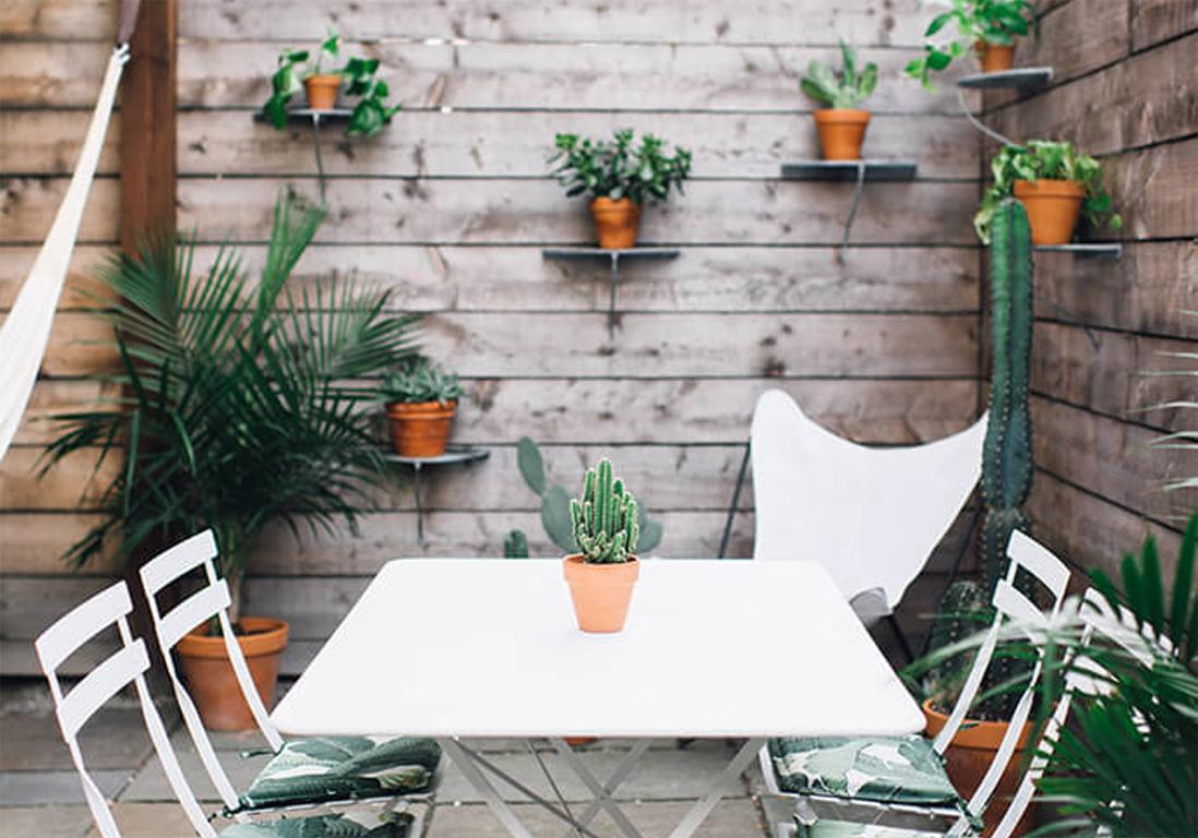 15 Idées Pour Pimper Le Mur De Sa Terrasse Elle Décoration