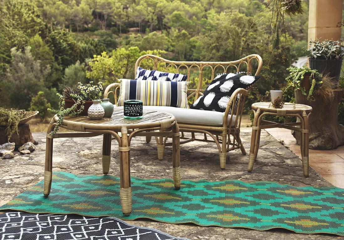 les 5 secrets dune terrasse relooke petit prix elle dcoration - Tapis Exterieur Terrasse