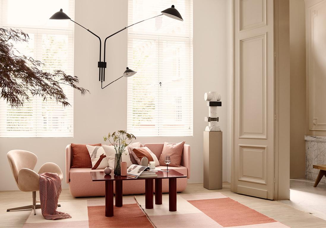 Deco Salon Rose Poudré Et Gris du rose pâle pour un intérieur tout doux - elle décoration