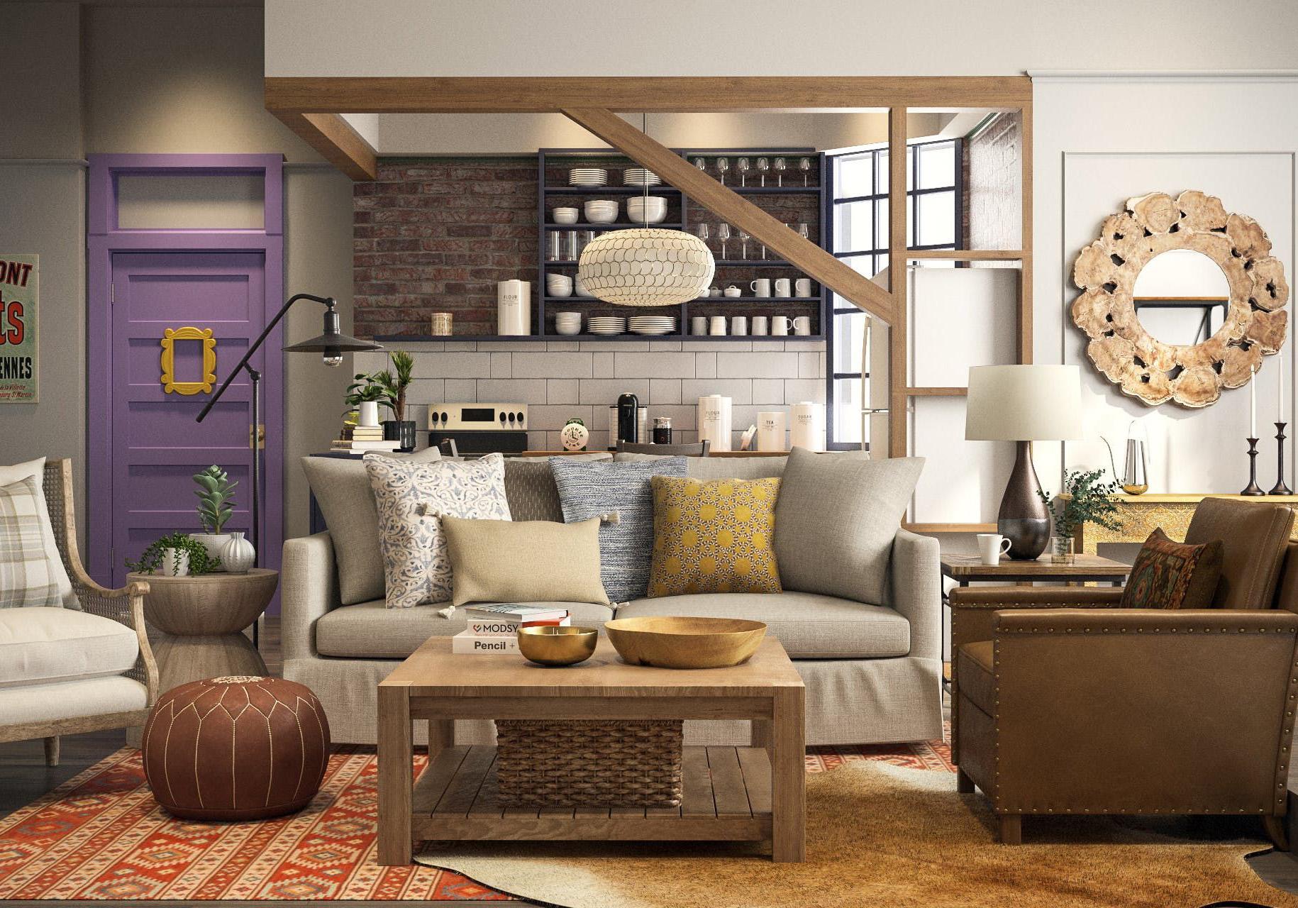 d couvrez l appartement mythique de friends en 2018 elle d coration. Black Bedroom Furniture Sets. Home Design Ideas