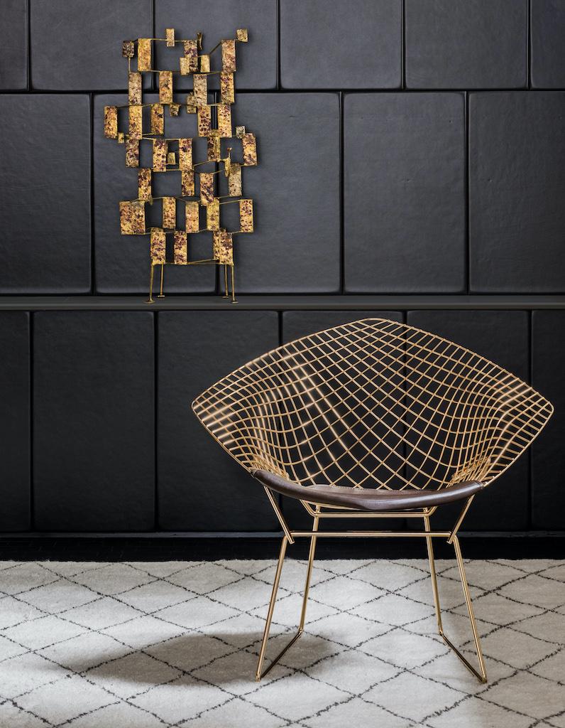 Design Iconique : la Diamond Chair signée Harry Bertoia - Elle Décoration