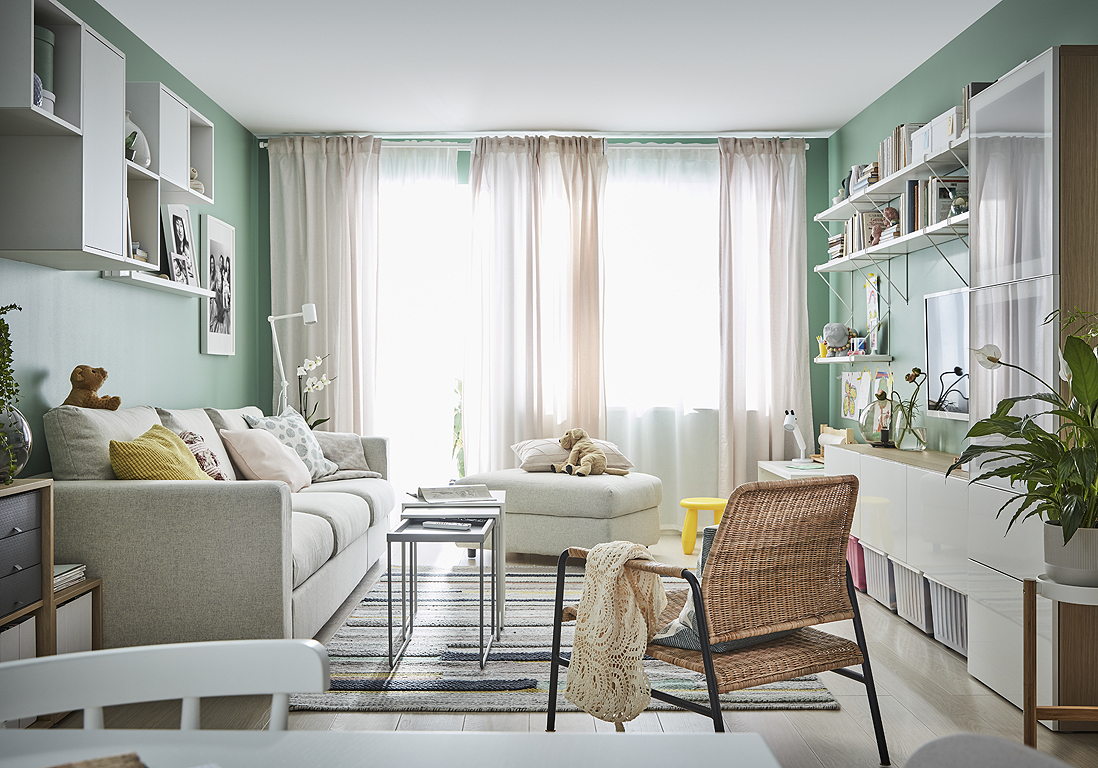 Rideau Gris Perle Ikea tendance deco salon salle a manger 2020