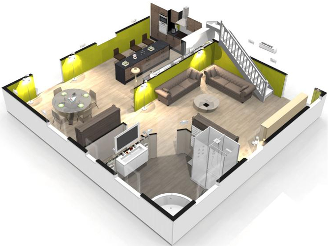 Creer Interieur Maison 3d Telechargement Logiciel Architecture 3d Plans De Maison Et Perspectives