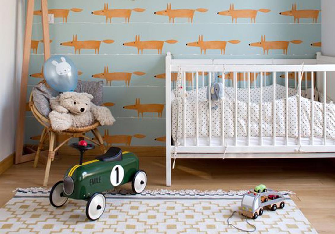 chambre de b b 25 id es qui changent du bleu pour un gar on elle d coration. Black Bedroom Furniture Sets. Home Design Ideas