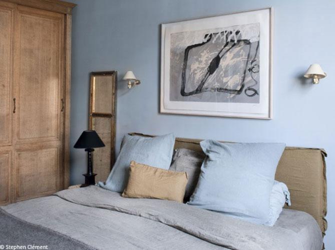 Un bleu-gris - La chambre se refait une beauté! - Elle Décoration