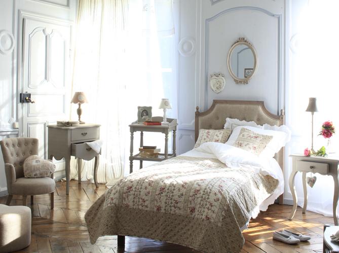 Chambre romantique - Elle Décoration