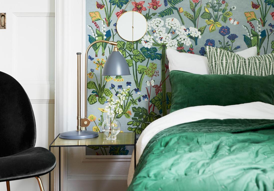 Chambre verte  les vertus d'une chambre verte   Elle Décoration