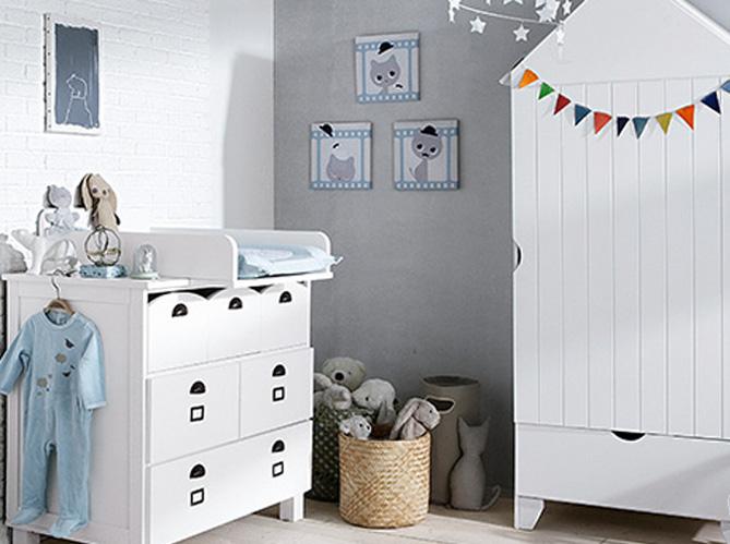 6349d1563db340 Nos meilleurs conseils pour une chambre de bébé au top ! - Elle Décoration