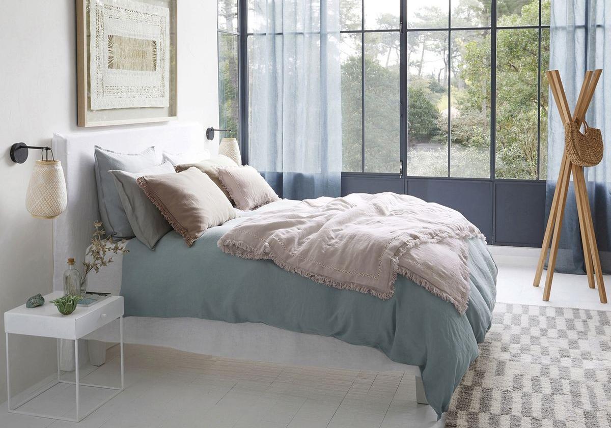 linge de lit en lin : on ne s'en lassera jamais - elle décoration