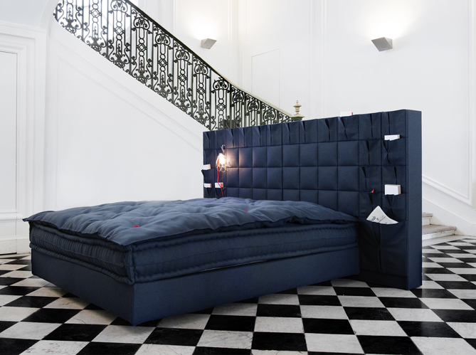 t te de lit gaufr e on l ach te ou on la fabrique elle d coration. Black Bedroom Furniture Sets. Home Design Ideas
