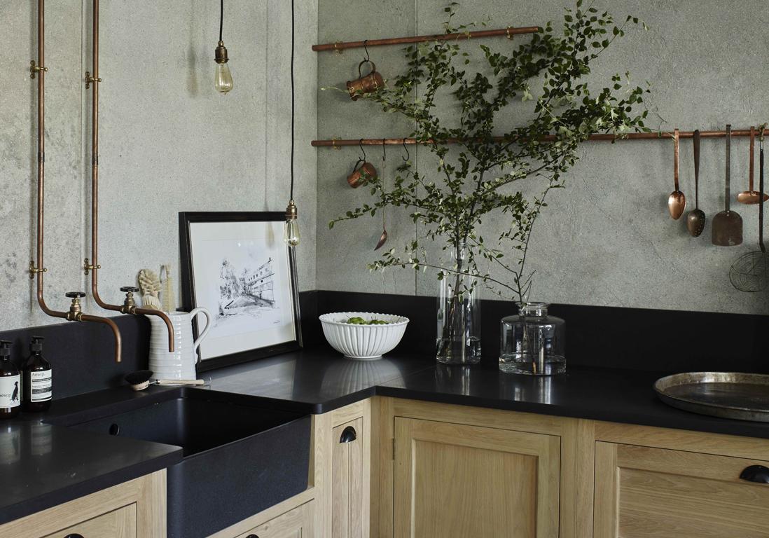 un plan de travail en granit pour une cuisine de caract re des plans de travail pour tous les. Black Bedroom Furniture Sets. Home Design Ideas