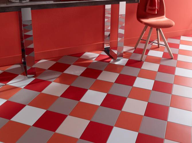 40 Pièce Tapis Carrelage Sol Carrelage Tapis 50 x 50 cm 10 mâ² en rouge et noir