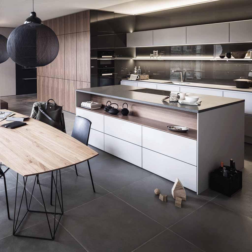 Tendance : une cuisine bois et laque - Elle Décoration