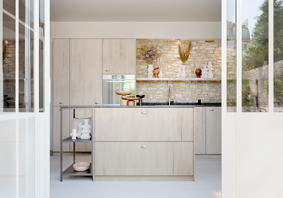 Des cuisines en bois naturel modernes et chaleureuses - Elle