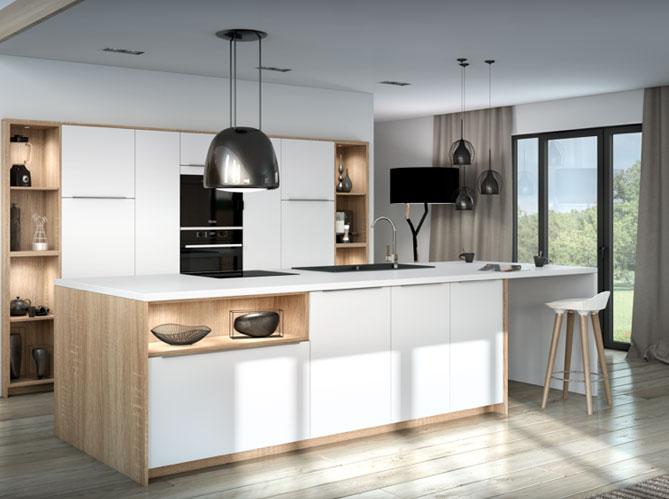 je veux une cuisine scandinave elle d coration. Black Bedroom Furniture Sets. Home Design Ideas
