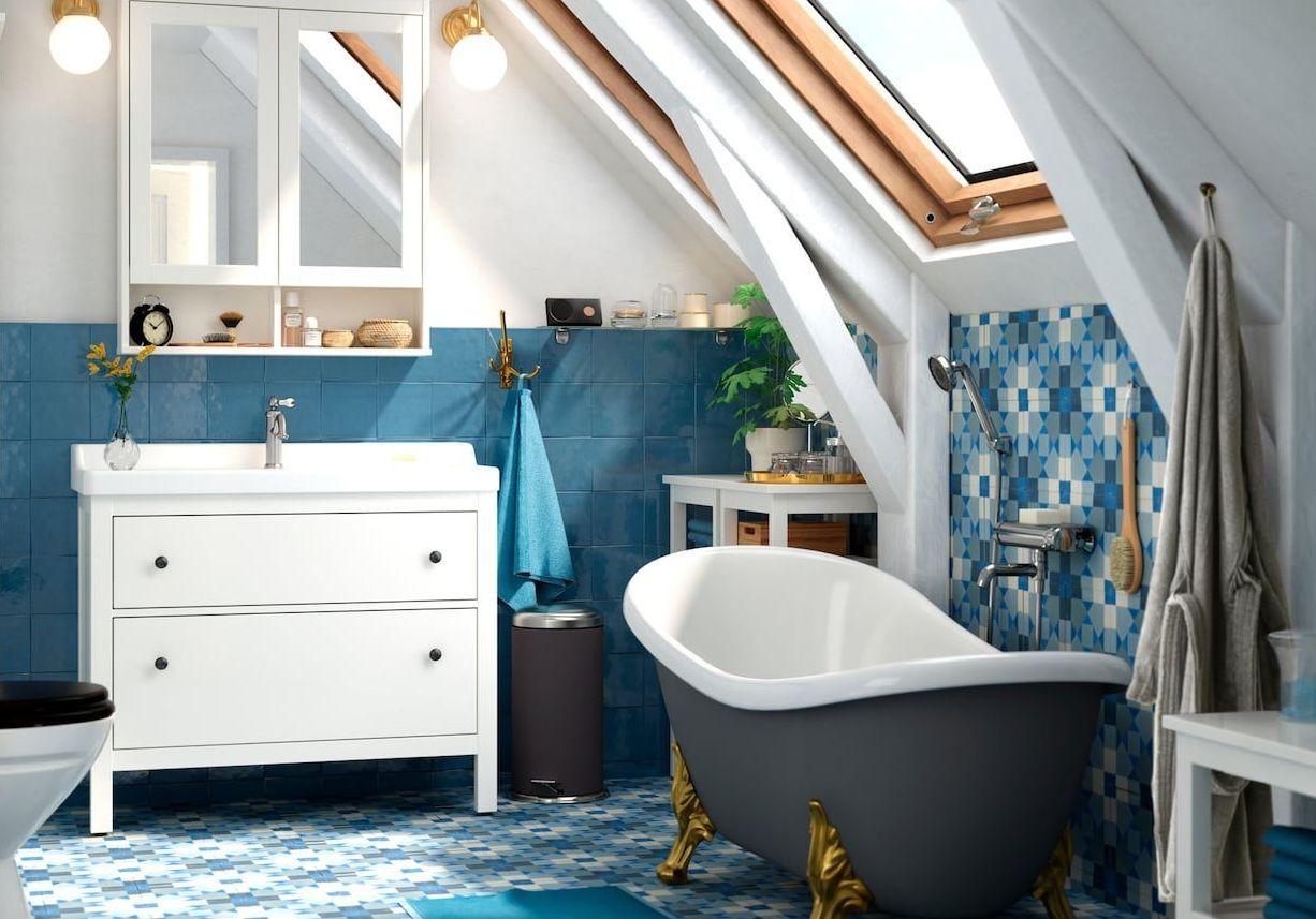 Pied Meuble Salle De Bain Ikea une salle de bains comme chez ikea - elle décoration