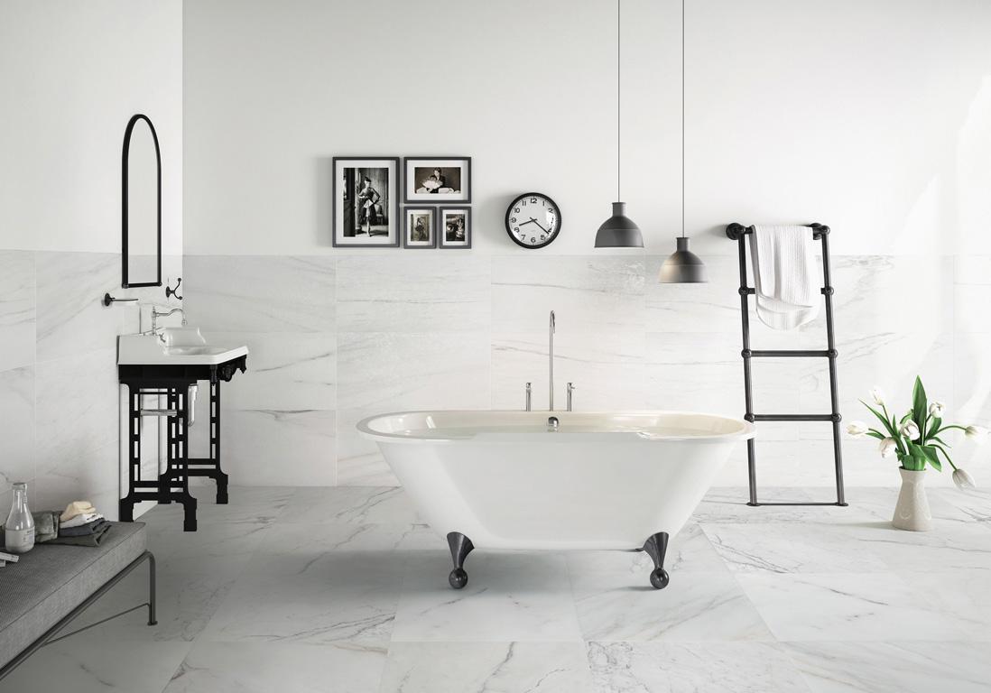 Sol Salle De Bain Imitation Parquet salle de bains : 15 sols qui font la différence - elle