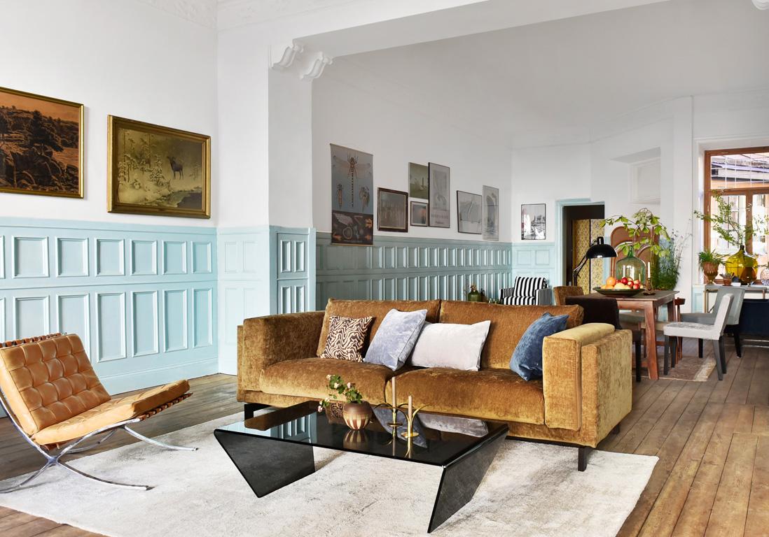 Canap en velours notre shopping pour un salon glamour - Appartement decoration design glamour vuong ...