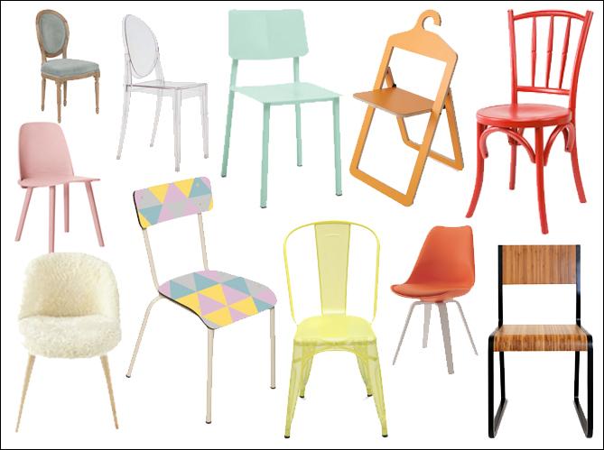Osez les chaises dépareillées Elle Décoration
