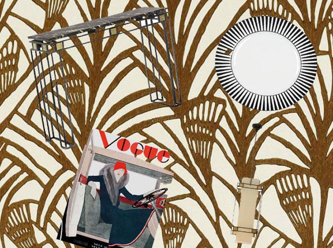 le retour de la tendance art d co elle d coration. Black Bedroom Furniture Sets. Home Design Ideas