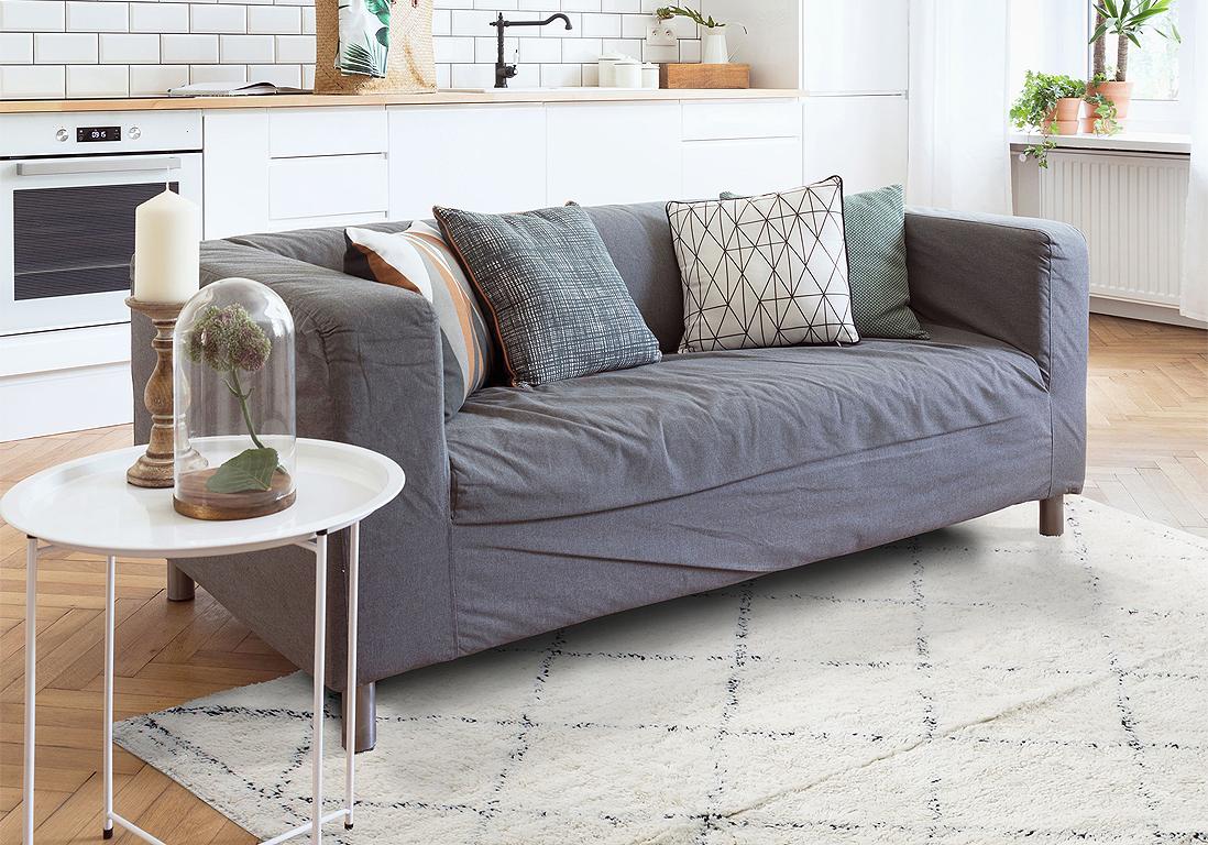 Des tapis qui réchauffent le salon - Elle Décoration