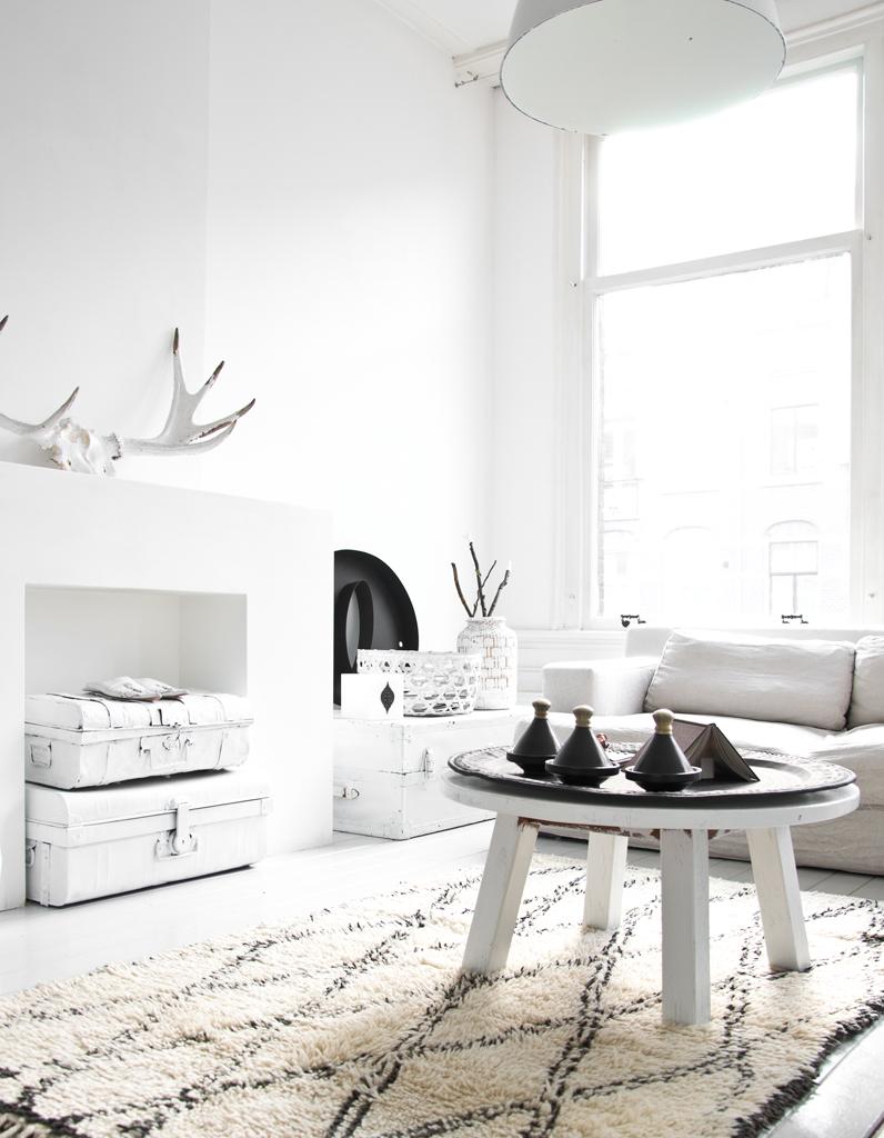 le noirblanc sinvite au salon elle dcoration