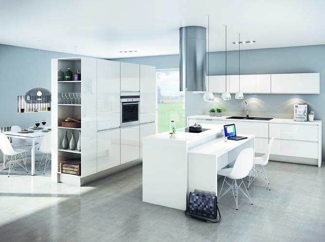 Idée Aménagement Cuisine Ouverte Sur Salon une transition idéale entre la cuisine et le salon - elle décoration